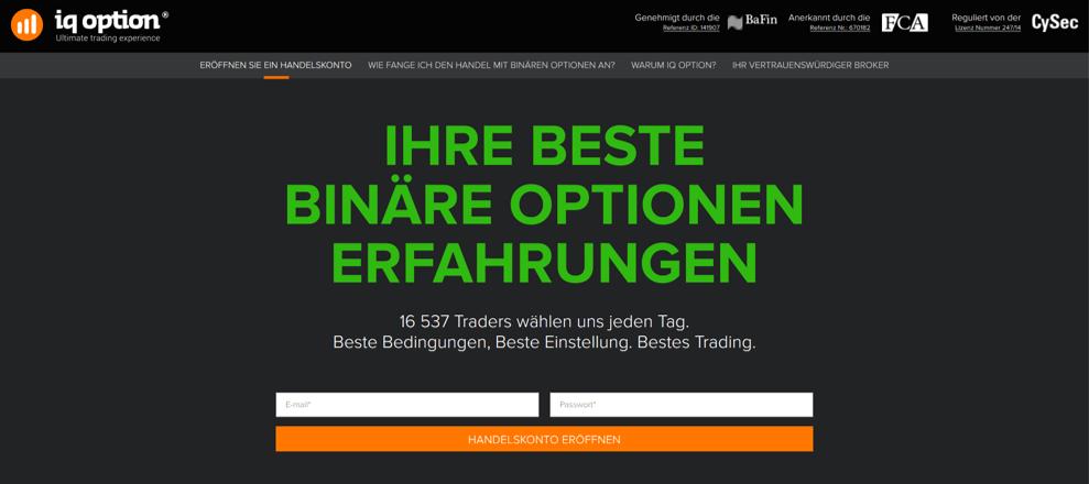 Iq option 2016 deutschland